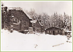 Camp forestier, circa 1910. Archives privées.